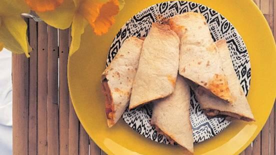 Piščančje tortilje z zelenjavo