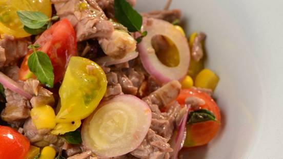 Solata iz govedine in zelenjave
