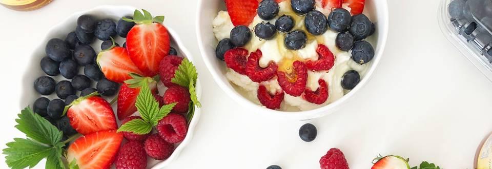 Skuta s svežim sadjem