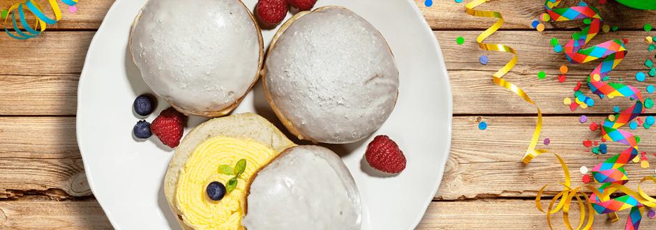 Lidlovi pečeni pustni krofi s crème patissière in sladko glazuro