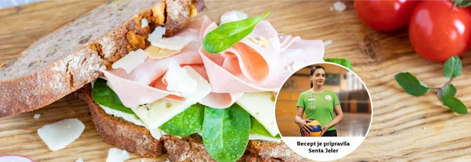 Zmagovit obrok: Sentin poletni sendvič z mortadelo
