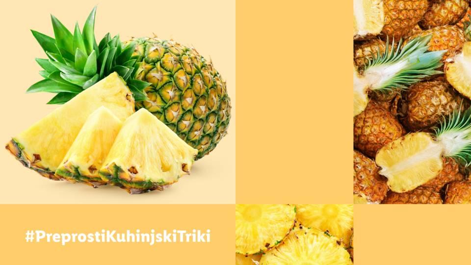 Preprosti kuhinjski triki: Kako narezati ananas?