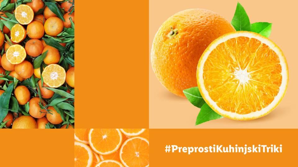 Kako narezati pomarančo?
